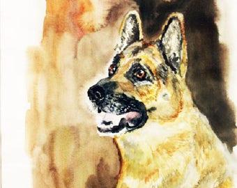 Custom Pet portrait Custom dog portrait  Custom Pet Painting Original Painting Watercolor Painting  Personalized Pet Portrait Gift Art