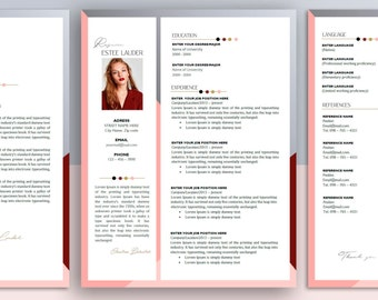 Resume template | CV Template + Cover Letter + Sample Page for MS Word | Instant Digital Download | 'ESTEE'