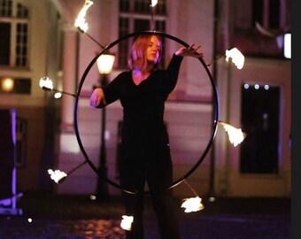 Ø 90//100cm 3//4//5 Feuer-Fackeln Fire Hoola Hup Feuer Hula Reifen wahlweise