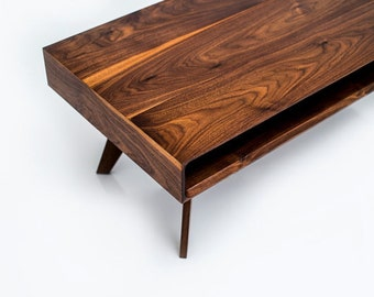 Mid Century Modern Coffee Table, Modern Coffee Table, Walnut Coffee Table, Coffee Table