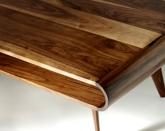 Mid Century Modern Coffee Table, Modern Coffee Table, Coffee Table, Walnut Coffee Table
