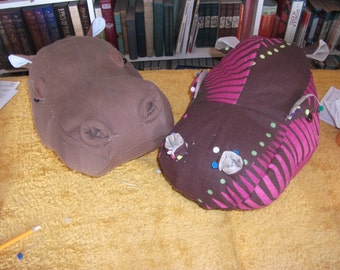 Simon the Hippo - mounted head - fabric sewing pattern