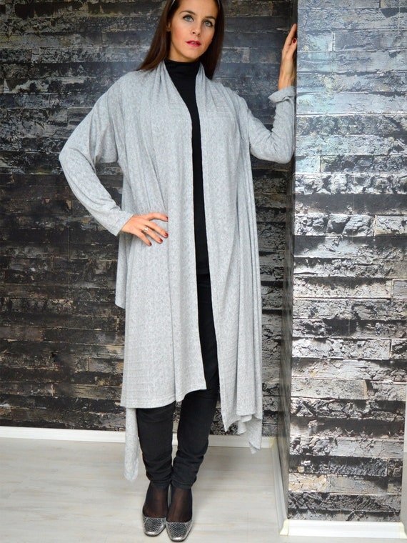 Sale Grey Oversize Top Plus Size Top Asymmetrical Overall Etsy