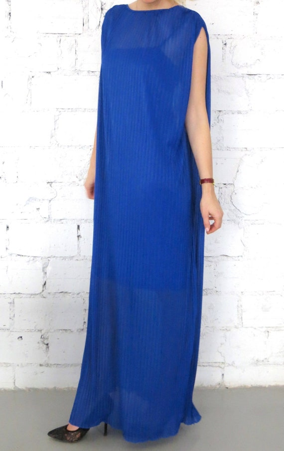 Elegant Royal Blue Dress, Maxi Soleil Dress, Maternity Wear, Oversized Casual Dress, Everyday Dress, Caftan Dress