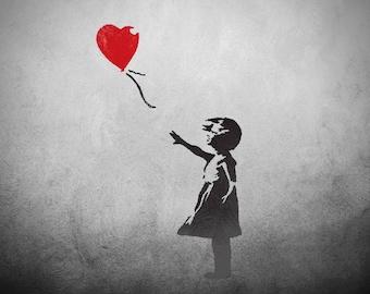 CraftStar Large Banksy Balloon Girl Stencil- Urban Graffiti Wall Art Template