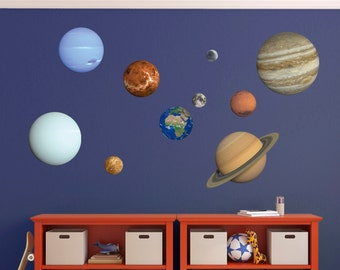 Planet Wall Sticker Set - Solar System Wall Sticker Set