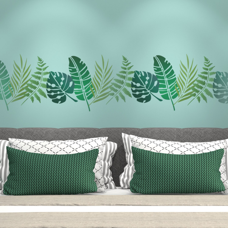 CraftStar Fan Palm Leaf Stencil Tropical Foliage A5 Craft Template