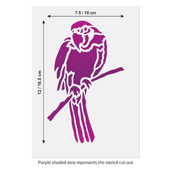 DIY Bird Template CraftStar Reusable Mini or Small Airbrush Parrot Stencil