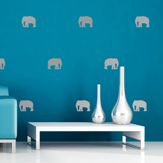 pack of mini elephant wall stickers 24 or 54 wall decals | etsy