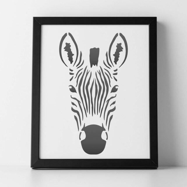 CraftStar Zebra Stencil A4 Mylar Zebra Head Template For | Etsy