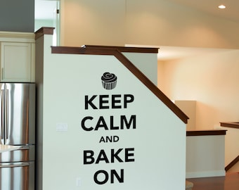 Keep Calm and Bake On Wall Sticker