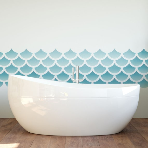 craftstar small mermaid scales repeating pattern stencil craft