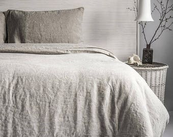Linen Duvet Cover Stone Washed Super Soft Natural Organic 100% Stonewashed Antibacterial Protective Flax King Queen Full -SALE!