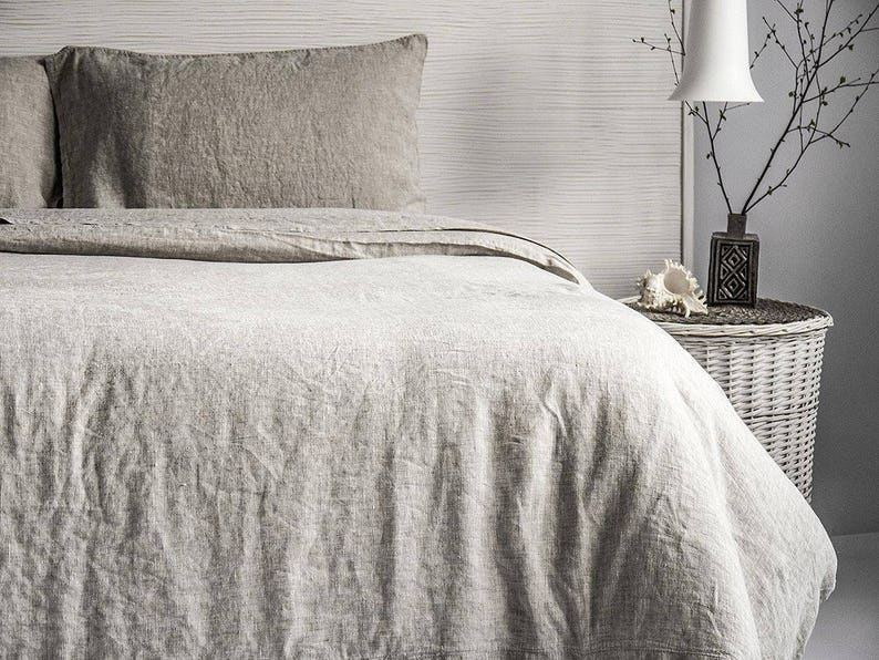 Linen Duvet Cover Stone Washed Super Soft Natural Organic 100% image 0