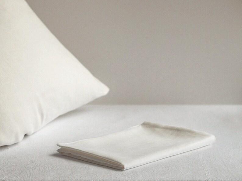 100/% Linen Pillow Case Cover Sham Natural Flax Gray White Striped Standard Queen King Euro Organic Premium Fabric All Size Pillowcase
