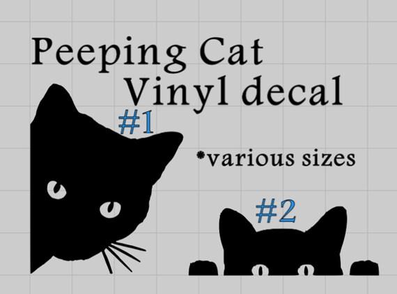 Dog /& Cat Silhouette Faces Car Truck Window Vinyl Decal Sticker 12 COLORS