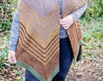 Woodlands Wrap - Knitting Pattern - Digital Download