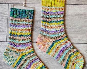 Bundled Up Socks - Knitting Pattern - Digital Download
