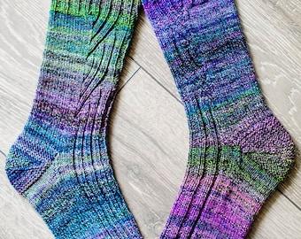 Changing Lanes Socks - Knitting Pattern - Digital Download