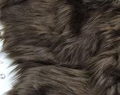 Brown faux fur 2 quot pile, Brown fur, Brown fur fabric craft squares, brown fursuit fur, brown shag fur, brown wolf fur, brown fake fur