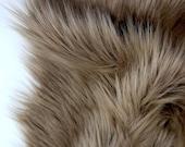 Light brown faux fur 2 quot pile, light brown fur, chocolate brown fur, brown fur craft squares, brown fursuit fur, brown shag fur, brown fur