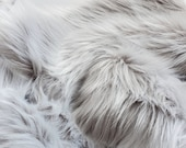 Platinum silver faux fur 2 quot pile, silver fur fabric, gray fur craft squares, gray fursuit fur, gray fake fur, gray faux fur, light gray fur