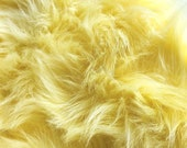 Pastel yellow faux fur 2 quot pile, baby yellow fur, yellow fur craft squares, pastel yellow fabric, baby yellow fabric, yellow fursuit fur