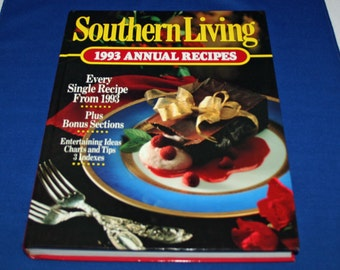 Vintage Book Southern Living Annual Recipes Cookbook – Recipe Cook Book 1993 Dessert Recipes Soups Cooking Country Kitchen Homestead