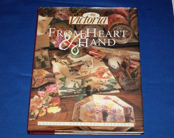 Vintage Victoria From Heart and Hand Book Home Craft Crafting How to Book Patterns Needlepoint Quilting Pattern Lampshades Projects