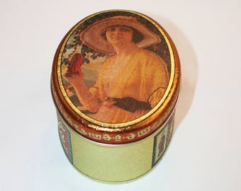 Vintage Coca-Cola Oval Gibson Girl Collector's Tin - Coca Cola Collectible Coke Memorabilia Ephemera Storage Box Tin