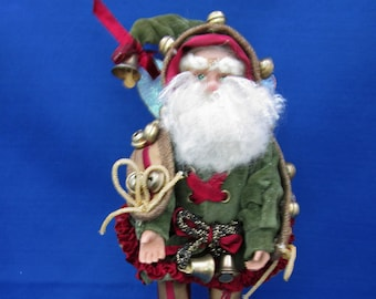 "Vintage Original Mark Roberts Sleighbell Fairy Ornament 9"" tall doll 51-35908 COA, Holiday Decoration Christmas Santa"