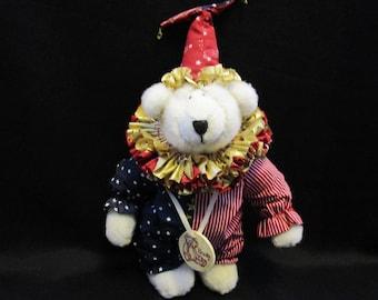 Vintage RARE Bonita Bear Gordon the Clown Original Box Tag and COA 1520 of 5000 by Applause Collectible Bears