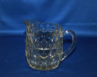 Vintage 16 oz Syrup Pitcher Jeannette Glass Co Windsor 1936-1946 Depression Glass Milk - Cream Pitcher Country Kitchen Homestead Farmhouse