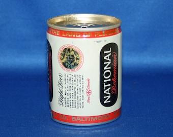 Vintage Carling NATIONAL Bohemian Beer Can Aluminum 8 FL OZ Bar Memorabilia Barware Collectible Breweriana Advertisement