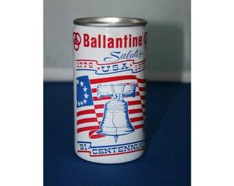 Vintage Ballantine Bi-Centennial Beer Can Pull Tab Aluminum Falstaff Brewing Co Collectible Bar Memorabilia Barware Advertisement Breweriana