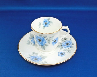 Vintage Hammersley Teacup and Saucer, Anemone Flowers #231, Demitasse Tea Cup,  Longton England, Bone China, English Tea Party