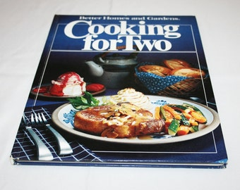 Vintage Cooking for Two Recipes Cookbook Better Homes and Gardens Recipe Cook Book Country Kitchen Homestead Farmhouse