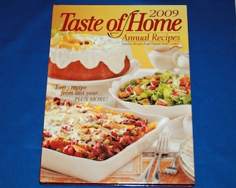 Taste of Home 2009 Annual Recipes Cookbook Hardcover Recipe Cook Book Desserts Meal Planning Slow Cook Favorites Italian Favorites