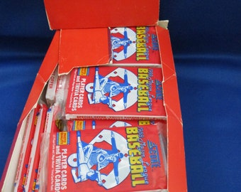 Vintage 1988 Score Baseball Trading Cards Full Box Of 36 Unopened Packs Don Mattingly Nolan Ryan Reggie Jackson Bo Jackson Barry Bonds Card