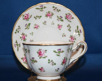 Vintage Royal Chelsea Teacup and Saucer Hand Painted Floral English Porcelain tea cup made in England Bone China