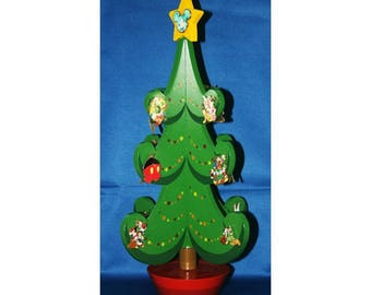 Walt Disney Christmas Music Box Advent Pin Tree Includes all 25 LE 1000 Pins Mickey Mouse Tinkerbell Goofy Roger Rabbit Jessica Minnie Mouse