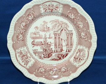 Vintage Spode Plate Archive Collection Regency Series Transferware Scalloped Edge Spode China Collectors Cabinet Plate Pagoda Dinner Plate
