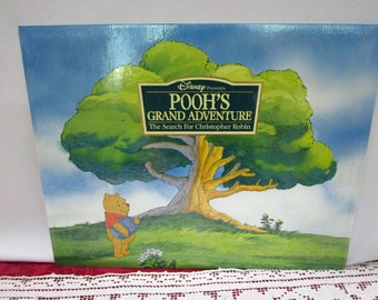 Vintage 1997 Disney Pooh's Grand Adventure SEALED Lithograph Portfolio, Set 4, Disney Store Exclusive, Winnie the Pooh Tigger Piglet Eeyore