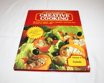 Vintage Cookbook Volume 2 Salads Recipes Encyclopedia of Creative Cooking by Steve Sherman & Julia Older Recipe Cook Book Country Homestead