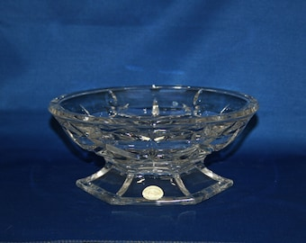 Vintage Lenox Pedestal Dish, Lady Anne, Full Lead Crystal, Made in Germany, Hexagon Base Crystal Bowl Candy Dish Nut Bowl