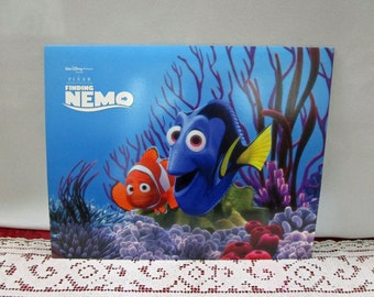 Vintage Disney Finding Nemo Commemorative Lithograph Set of 4 Disney Store Exclusive Printed in the USA Dory Crush Mr. Ray
