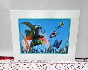 Vintage 1997 Disney A Bug's Life Commemorative Lithograph, Disney Store Exclusive, Printed in the USA Pixar