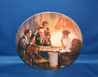 Vintage Edwin M Knowles Norman Rockwell Heritage Collectors Plate This is the Room that Light Made 1983 Collectible Plate