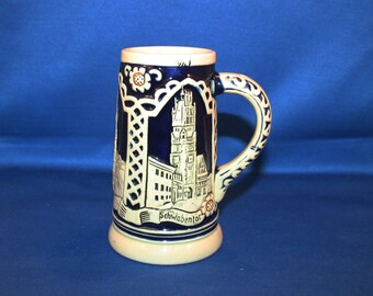 Antique Marzi and Remy #5452 German Beer Stein Stoneware Mug Tankard Breweriana Collectible Made in Germany