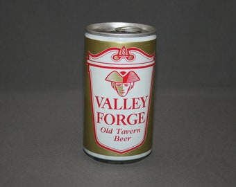Vintage Valley Forge Old Tavern Beer Steel Can Pull Tab Unopened & Empty Collectible Bar Memorabilia Barware Advertisement Breweriana